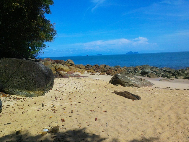 Beautiful beach at Permai Rainforest Resort